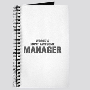 WORLDS MOST AWESOME Manager-Akz gray 500 Journal