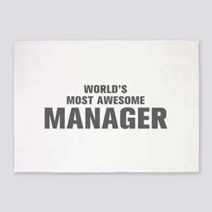 WORLDS MOST AWESOME Manager-Akz gray 500 5'x7'Area