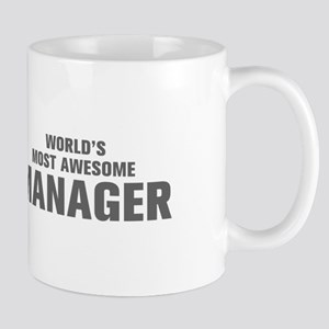 WORLDS MOST AWESOME Manager-Akz gray 500 Mugs
