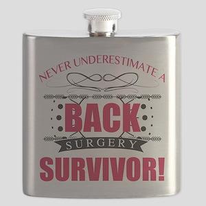 Back Surgery Survivor Flask