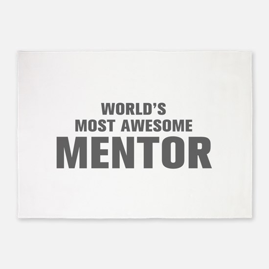 WORLDS MOST AWESOME Mentor-Akz gray 500 5'x7'Area