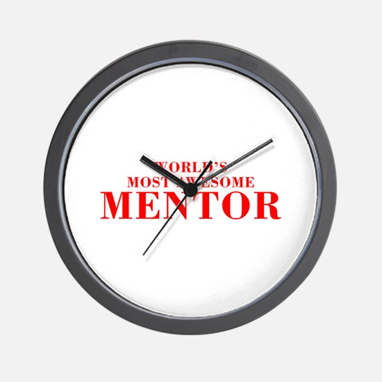 WORLDS MOST AWESOME Mentor-Bod red 300 Wall Clock