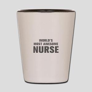 WORLDS MOST AWESOME Nurse-Akz gray 500 Shot Glass