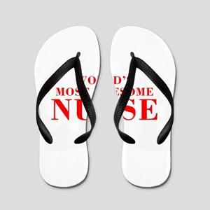 WORLDS MOST AWESOME Nurse-Bod red 300 Flip Flops
