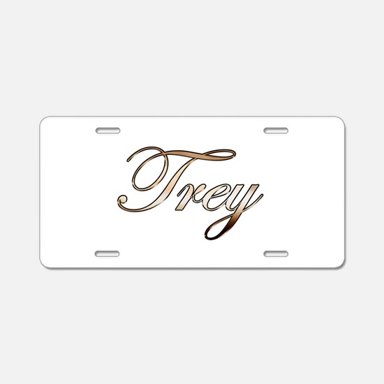 Gold Trey Aluminum License Plate