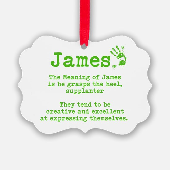 The Meaning of James Ornament