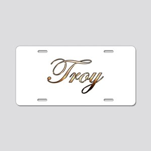 Gold Troy Aluminum License Plate