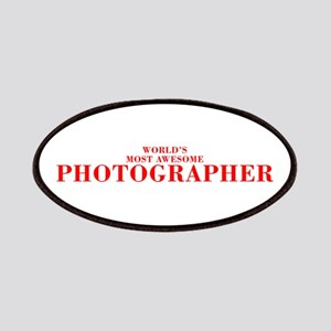 WORLDS MOST AWESOME Photographer-Bod red 300 Patch
