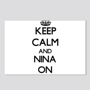 Keep Calm and Nina ON Postcards (Package of 8)