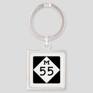 M-55, Michigan Square Keychain