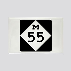 M-55, Michigan Rectangle Magnet
