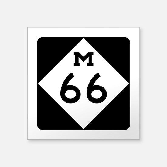 """M-66, Michigan Square Sticker 3"""" x 3"""""""