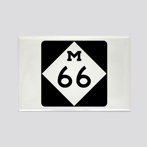 M-66, Michigan Rectangle Magnet