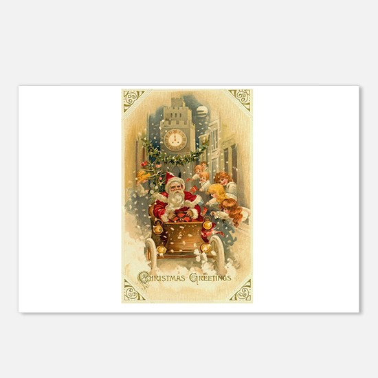 Vintage Santa Claus in Car - Christmastime in the