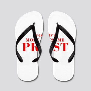 WORLDS MOST AWESOME Priest-Bod red 300 Flip Flops