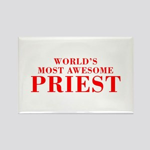 WORLDS MOST AWESOME Priest-Bod red 300 Magnets