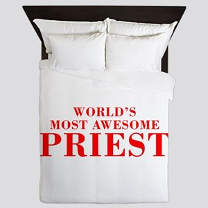 WORLDS MOST AWESOME Priest-Bod red 300 Queen Duvet