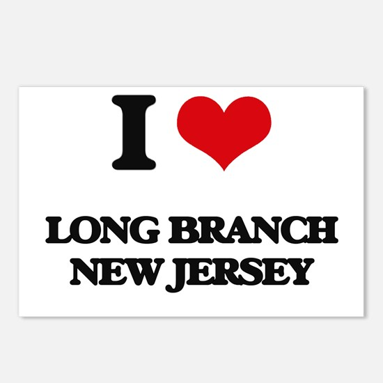 I love Long Branch New Je Postcards (Package of 8)