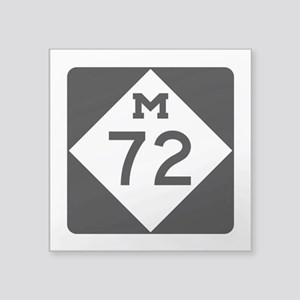 "M-72, Michigan Square Sticker 3"" x 3"""