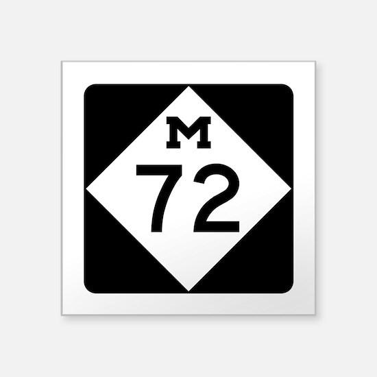 """M-72, Michigan Square Sticker 3"""" x 3"""""""