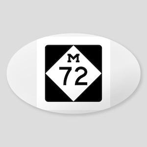 M-72, Michigan Sticker (Oval)