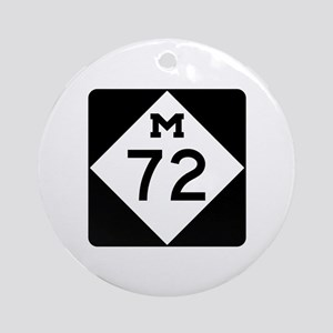 M-72, Michigan Ornament (Round)