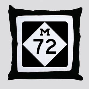 M-72, Michigan Throw Pillow