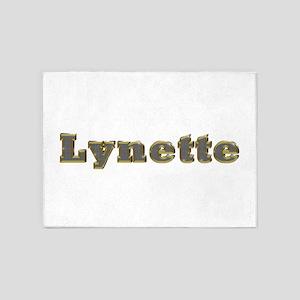 Lynette Gold Diamond Bling 5'x7' Area Rug