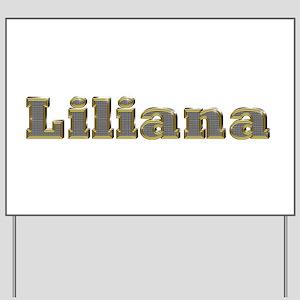 Liliana Gold Diamond Bling Yard Sign