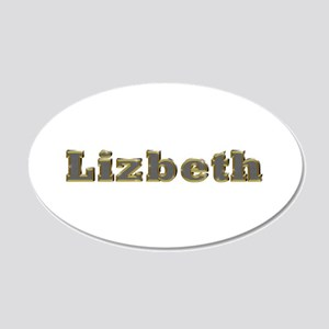 Lizbeth Gold Diamond Bling 20x12 Oval Wall Decal