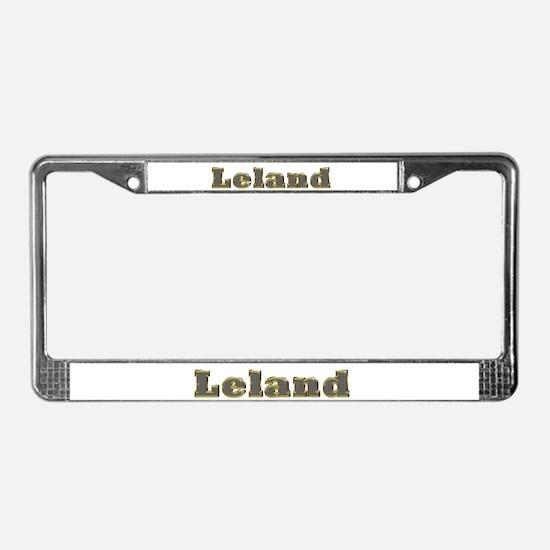 Leland Gold Diamond Bling License Plate Frame