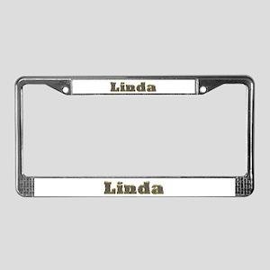 Linda Gold Diamond Bling License Plate Frame