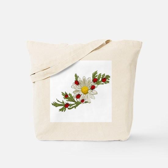 Ladybug and Flower Tote Bag