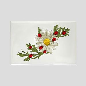 Ladybug and Flower Rectangle Magnet (10 pack)