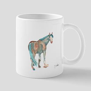 Abstract Watercolor Horse Painting Mugs