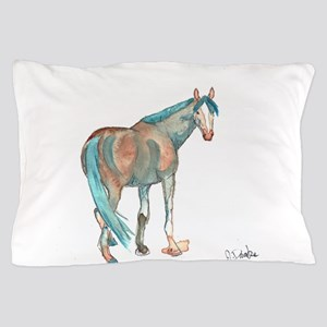 Abstract Watercolor Horse Painting Pillow Case