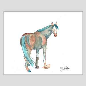 Abstract Watercolor Horse Painting Posters