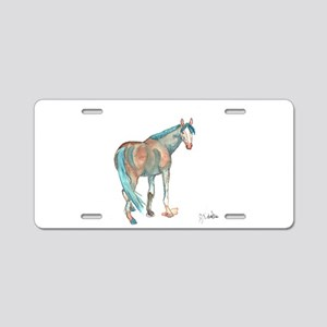 Abstract Watercolor Horse Painting Aluminum Licens