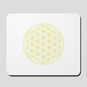 Flower Of Life Yellow Mousepad