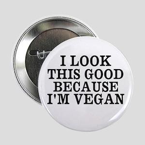 "Looking Good Vegan 2.25"" Button (10 Pack)"