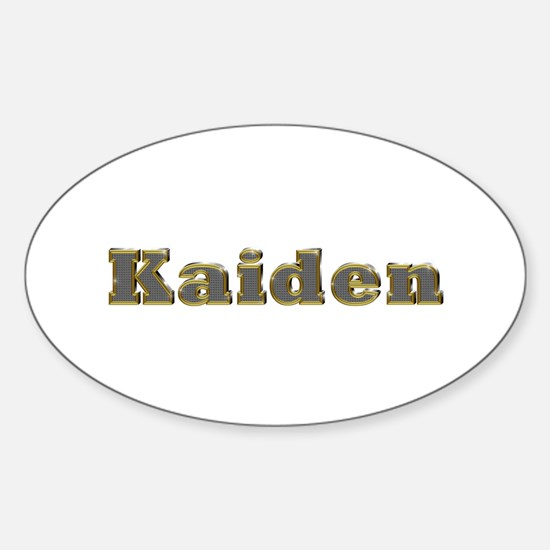 Kaiden Gold Diamond Bling Oval Decal