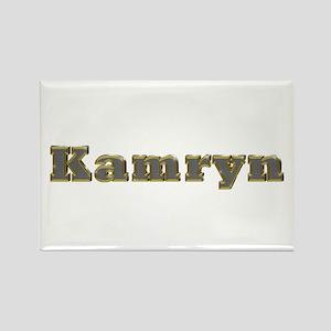 Kamryn Gold Diamond Bling Rectangle Magnet