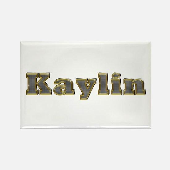 Kaylin Gold Diamond Bling Rectangle Magnet