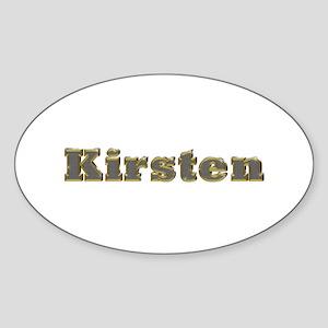 Kirsten Gold Diamond Bling Oval Sticker