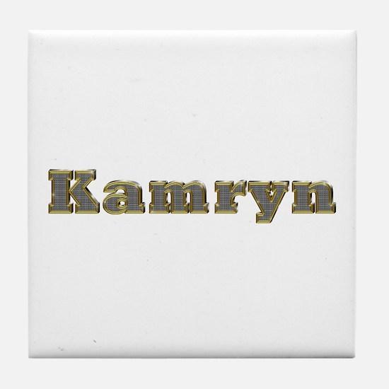 Kamryn Gold Diamond Bling Tile Coaster