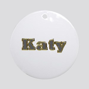 Katy Gold Diamond Bling Round Ornament