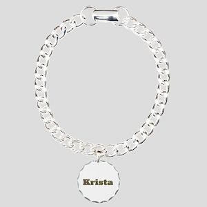 Krista Gold Diamond Bling Charm Bracelet