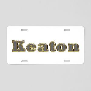 Keaton Gold Diamond Bling Aluminum License Plate