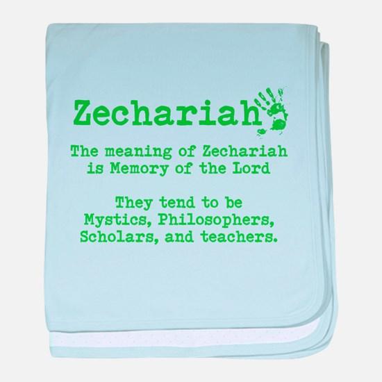 The Meaning of Zechariah baby blanket