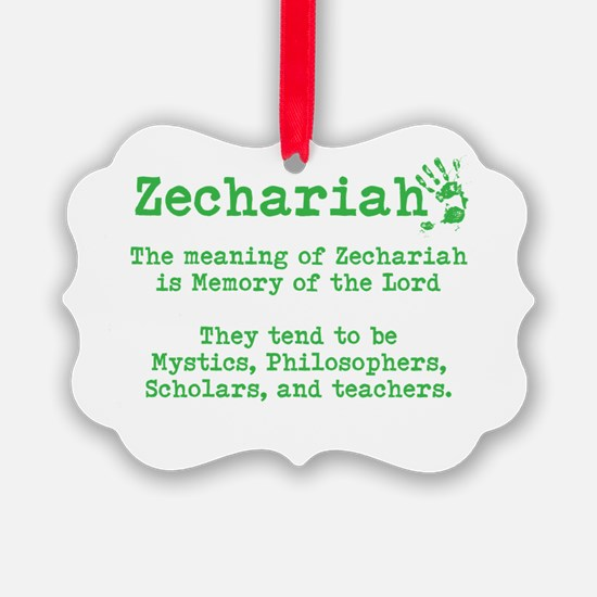 The Meaning of Zechariah Ornament